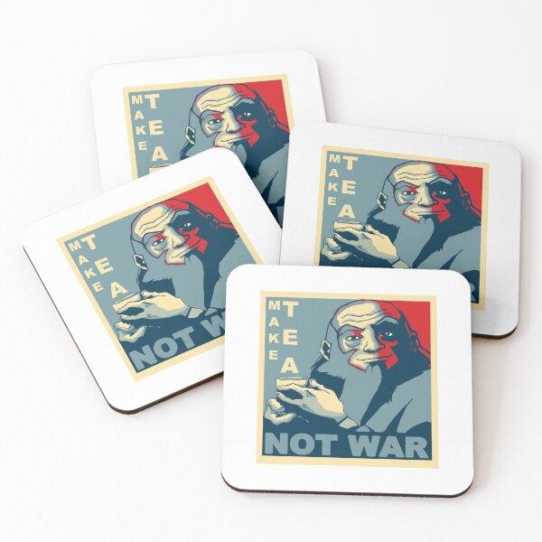 Make Tea Not War Coasters (Set of 4)