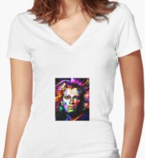 David Lee Roth Van Hellen Women's Fitted V-Neck T-Shirt