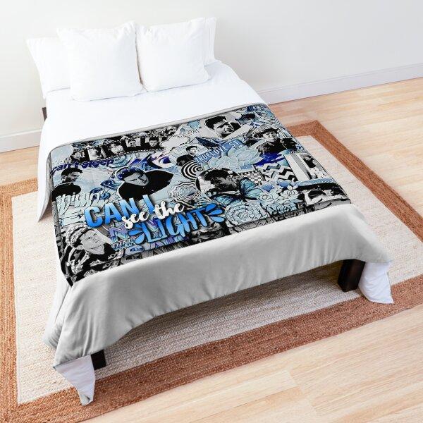 Tk Strand Blue Collage Edit Comforter