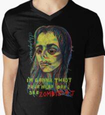 Zombie P J Mens V-Neck T-Shirt