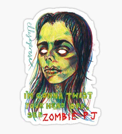 Zombie P J Sticker
