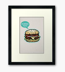 Epic Burger! Framed Print