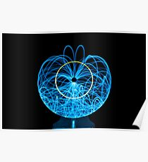 Blue Orb of Light Poster