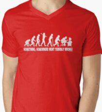 Something, somewhere went terribly wrong Men's V-Neck T-Shirt