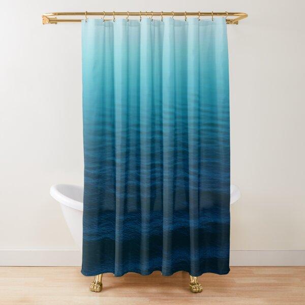 Tiefes Blau Duschvorhang