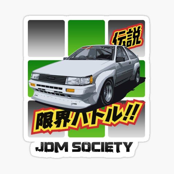 AE86 Toyota Corolla \u30c8\u30e8\u30bf TEQ style Decal Stickers x2 hilux truck celica landcruiser crown supra cressida corona panda trueno