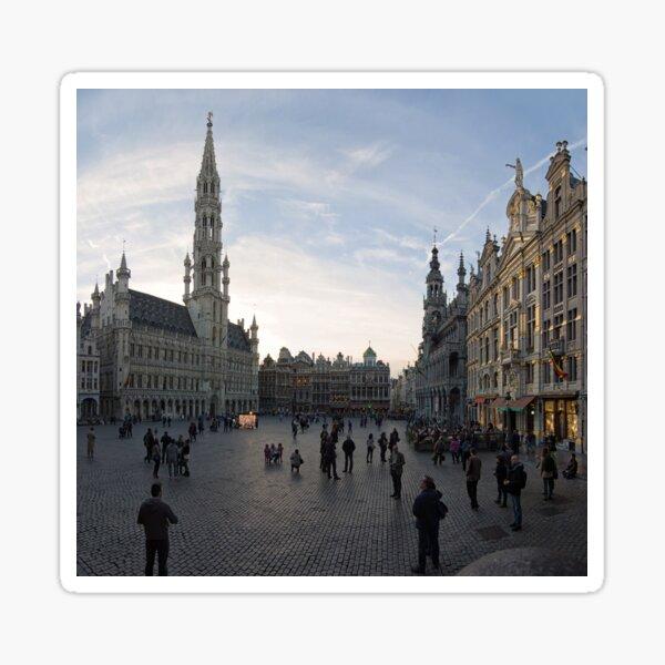 Grand Square Brussels - Belgium Sticker