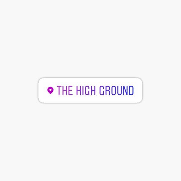 El terreno elevado Pegatina
