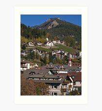 Lámina artística Village in the Dolomites