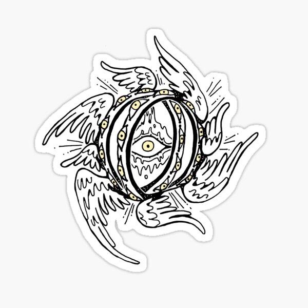 Winged Throne Angel Sticker
