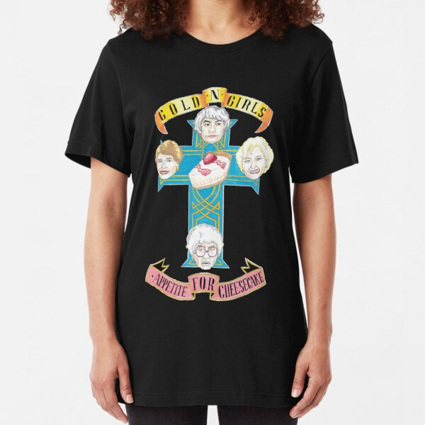 "Gold N Girls ""Appetite for Cheesecake"" Shirt Slim Fit T-Shirt"