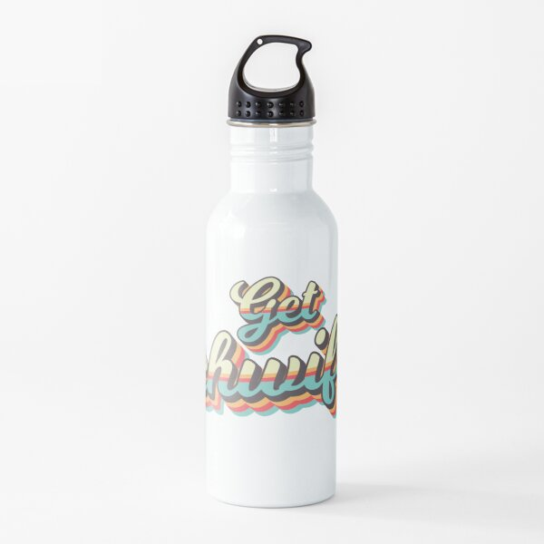 Get Schwifty from Rick and Morty ™ Retro 70s Letters Water Bottle