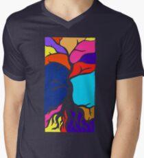Tree Silhouette Mens V-Neck T-Shirt