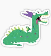 Crackles The Dragon Sticker