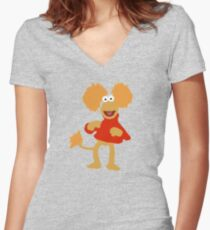 Fraggle!(3) Women's Fitted V-Neck T-Shirt