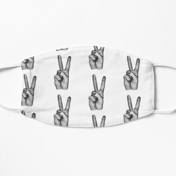 Peace Hand Gesture - Stippling Mask