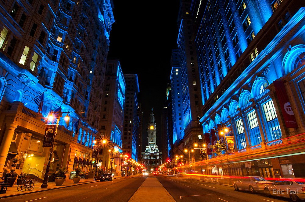 Broad Street City Lights, Philadelphia by Eric Tsai