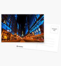 Broad Street City Lights, Philadelphia Postcards