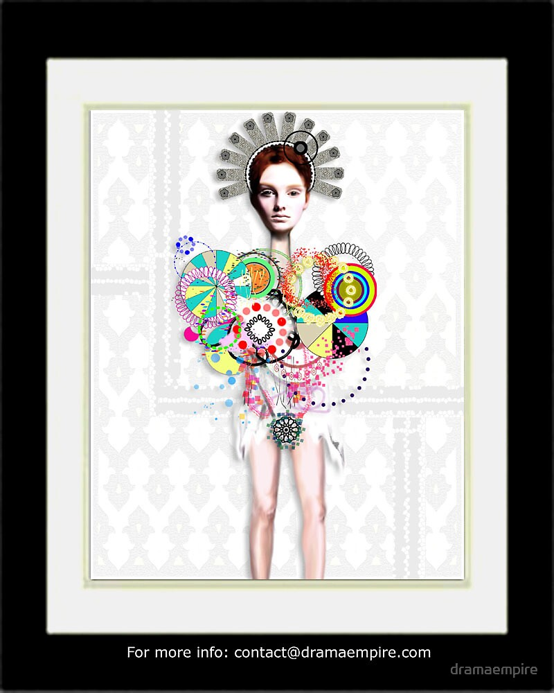 GOD SAVE THE QUEEN EMPRESS - Limited Edition Giclee Print S/N by dramaempire