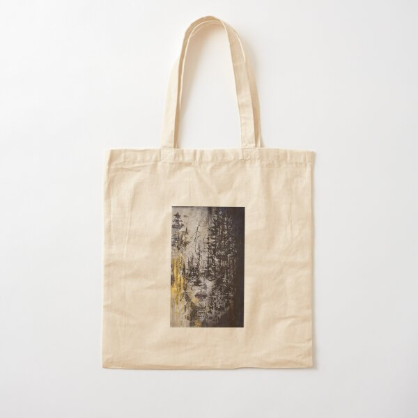 Face in Trees Cotton Tote Bag
