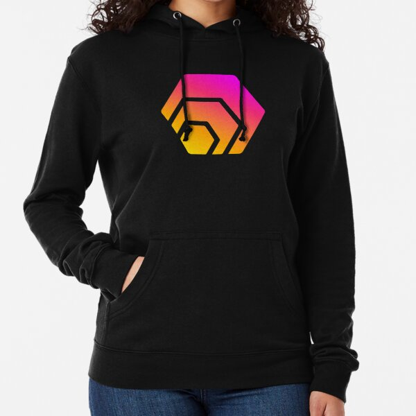 HEX Crypto Hexagon Logo Lightweight Hoodie