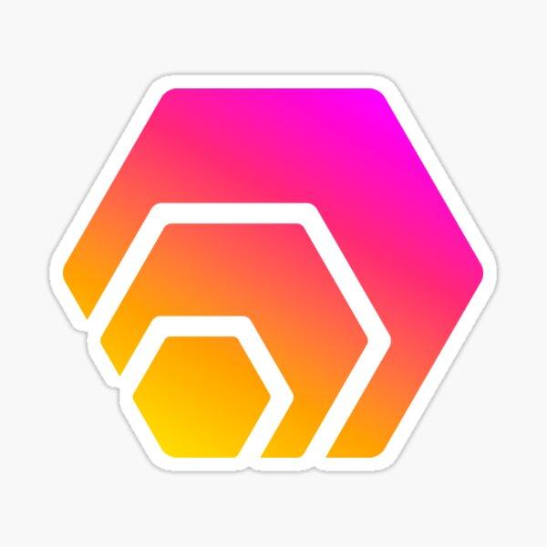 HEX Crypto Hexagon Logo Sticker