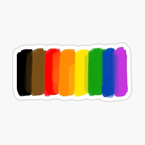 POC Pride Flag Paint Swatch Sticker Sticker