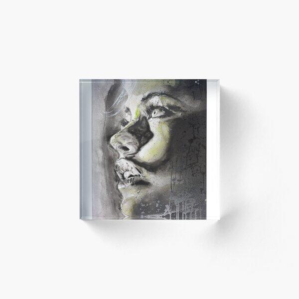 Green Woman Acrylic Block