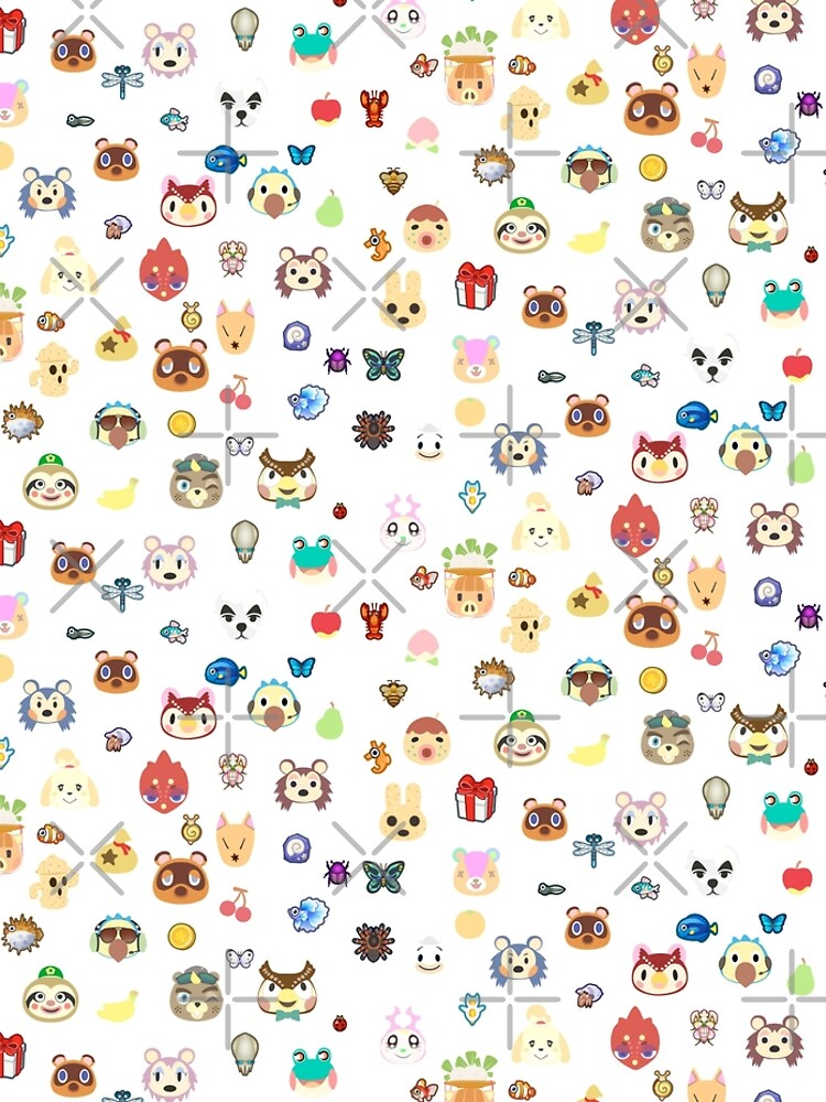 animal crossing cute pattern by Mkawaii