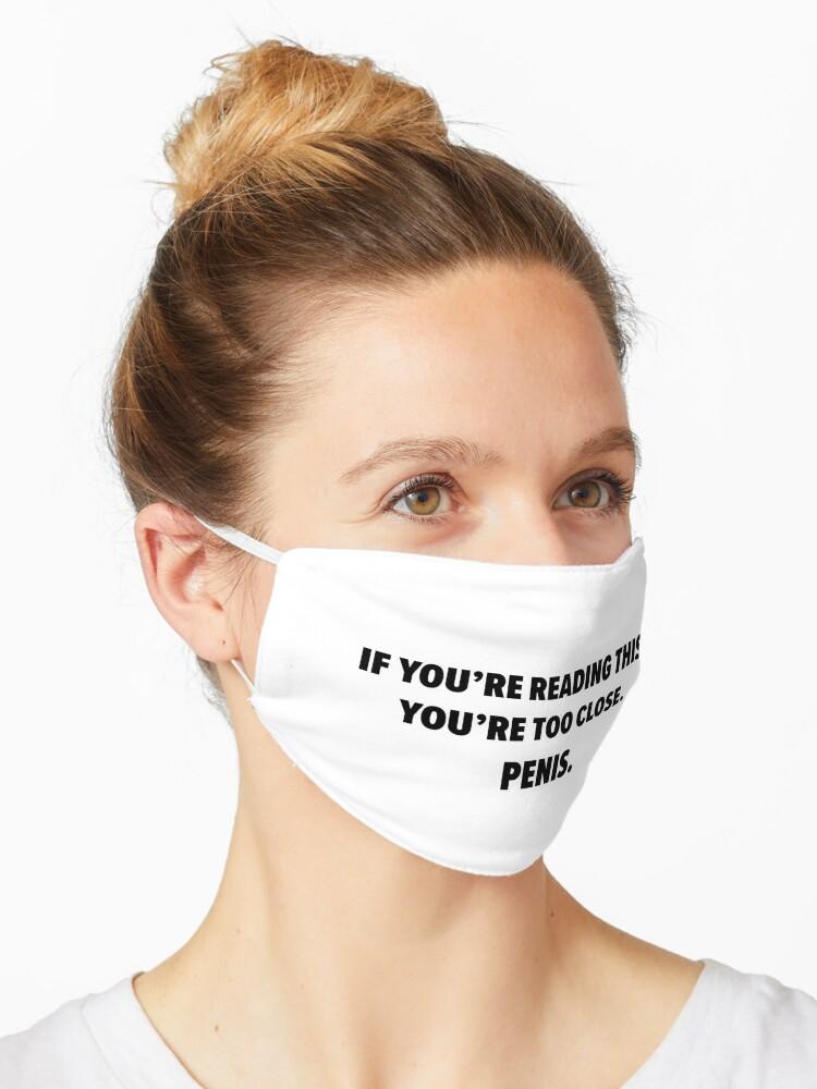 Masque Drole De Penis Coronavirus Covid Masque Autocollant Chemise Par Fetishart Redbubble
