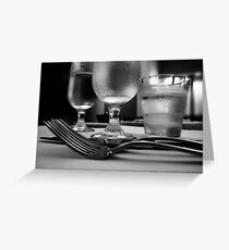 Dinner ware Greeting Card