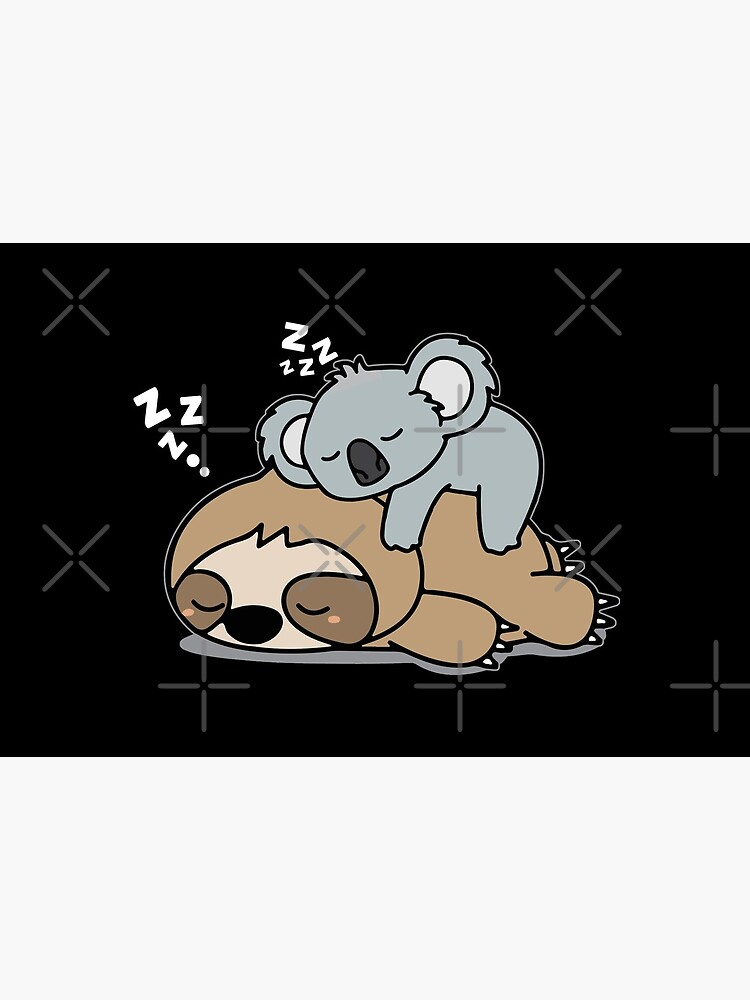 Cute Funny Lazy Sloth With Lazy Koala Mama Bear Napping Mothers Day Gift by khaledokov