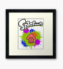 Splatoon Squid - Colour Red Framed Print