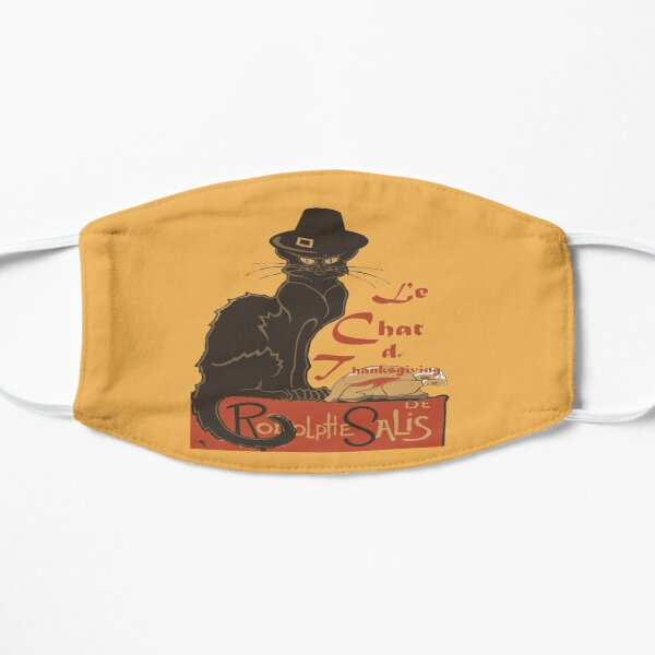 Le Chat De Thanksgiving Holiday Dinner Flat Mask