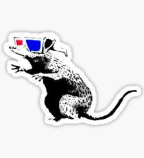 Banksy - 3D Rat Sticker