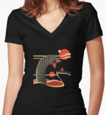 Arrakis Travel Poster Women's Fitted V-Neck T-Shirt