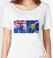 Turks and Caicos Islands Flag Women's Relaxed Fit T-Shirt