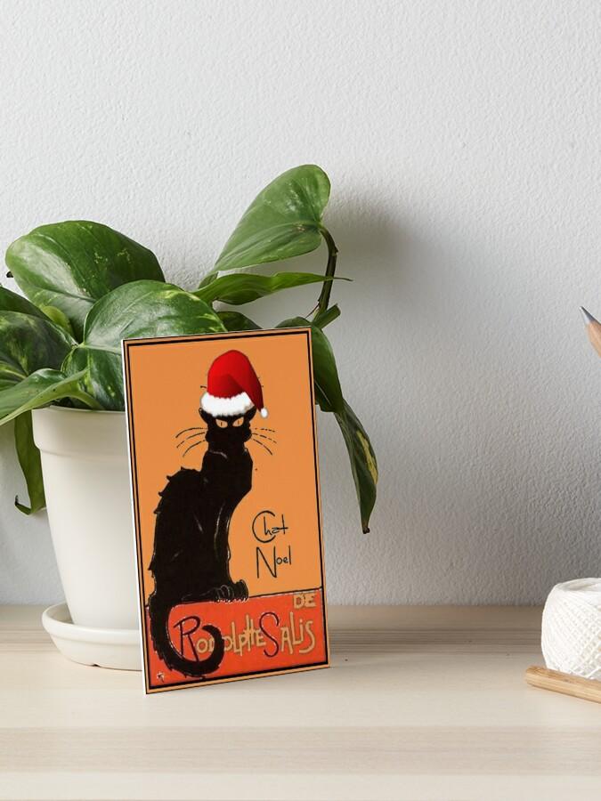 vintage carte de Noël repro Pack de 10 Edwardian CHAT NOIR chants de Noël