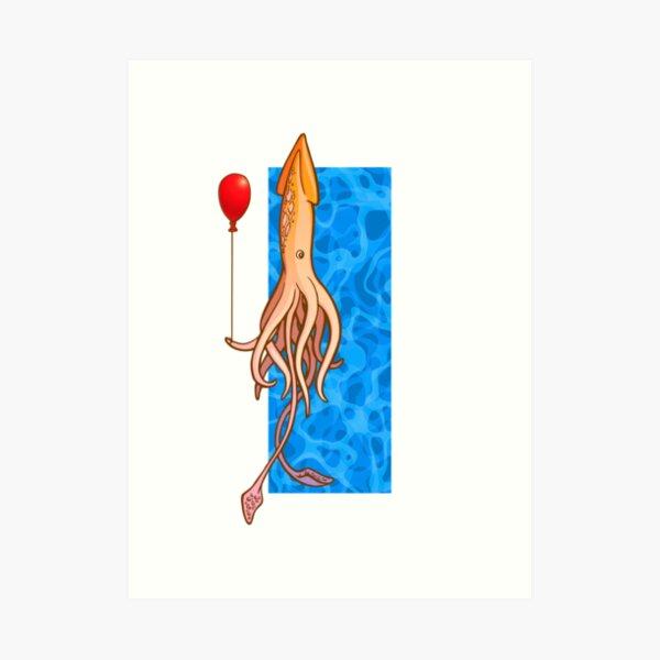 Squidlet Tee Art Print