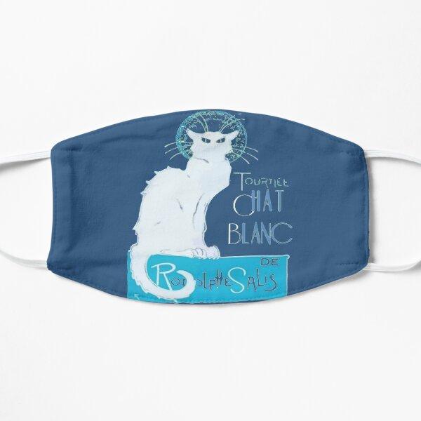 Tournee Chat Blanc Parody Le Chat Noir - Distressed Flat Mask
