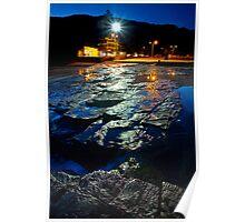 Reflecting Rock Shelves At Night Poster