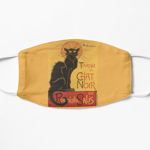 Soon, the Black Cat Tour by Rodolphe Salis Flat Mask