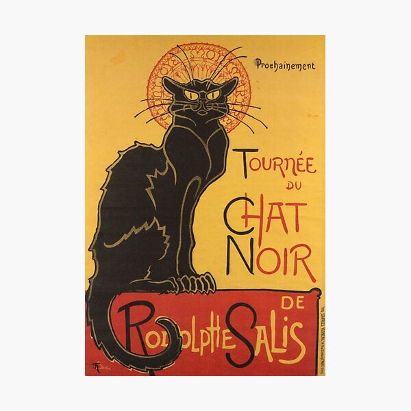 Soon, the Black Cat Tour by Rodolphe Salis Photographic Print