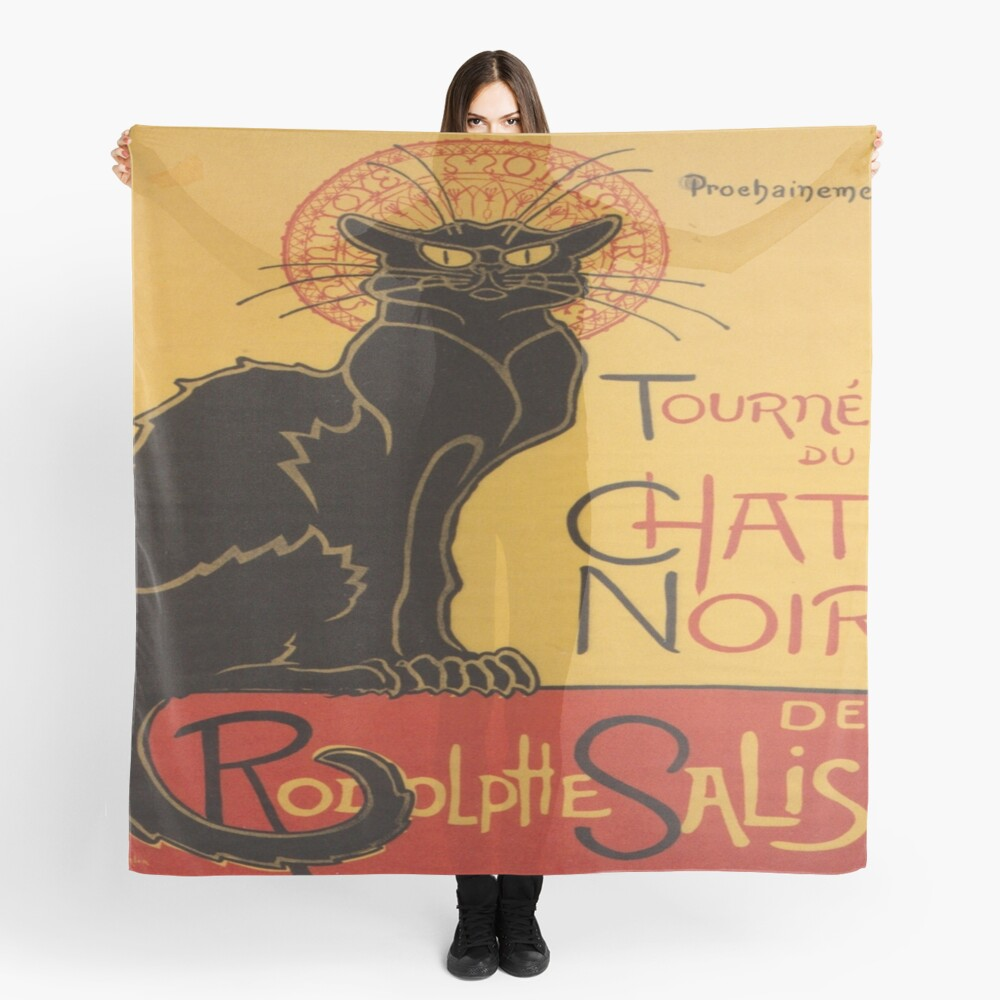 Soon, the Black Cat Tour by Rodolphe Salis Scarf