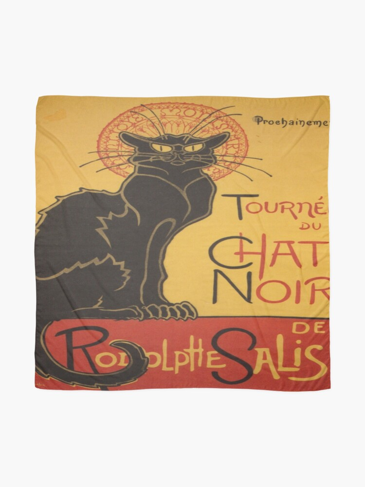 Alternate view of Soon, the Black Cat Tour by Rodolphe Salis Scarf