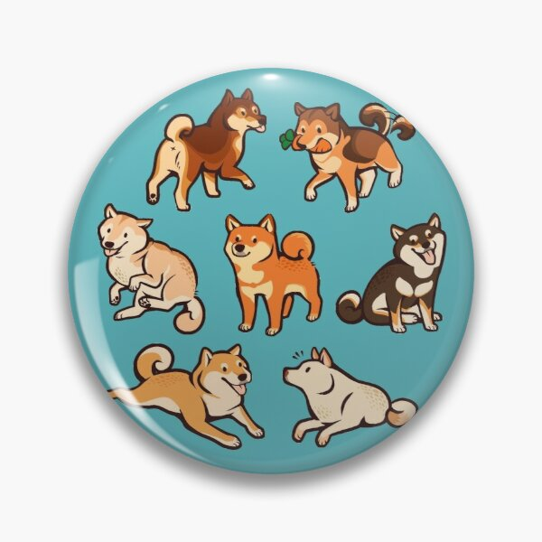 shibes in blue Pin