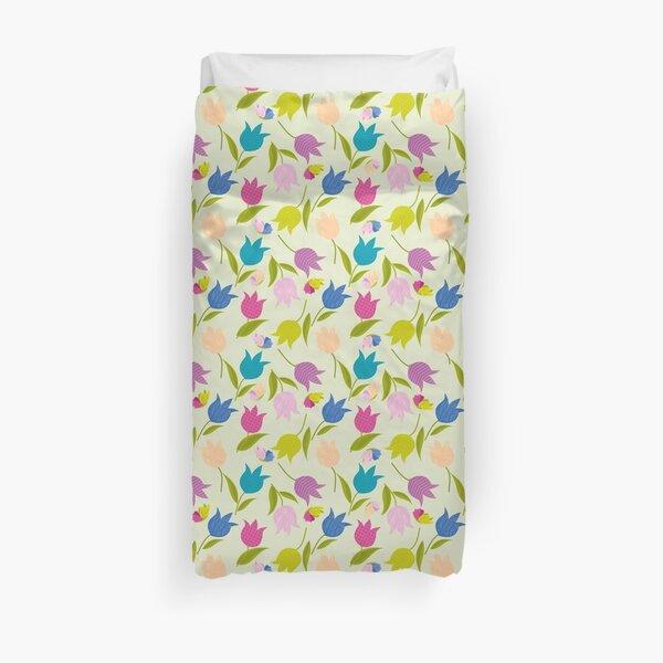 Decorative Tulips Pattern Duvet Cover