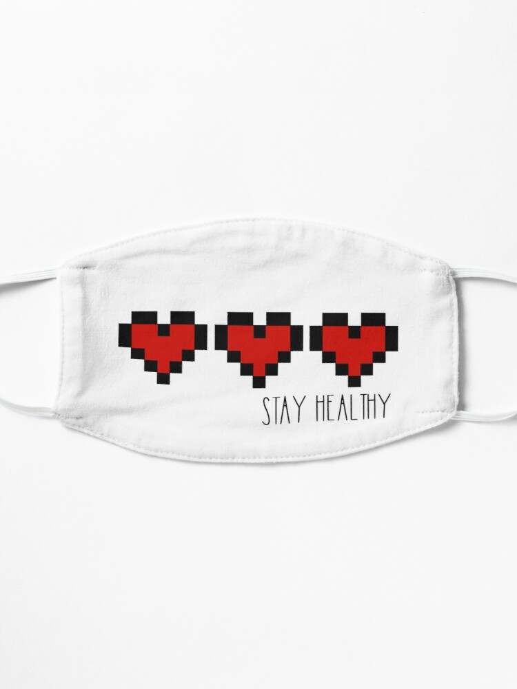 Alternate view of Stay healthy - Hearts Mask