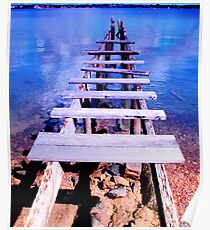 old jetty Poster