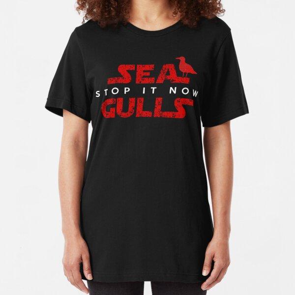 Funny Seagulls Slim Fit T-Shirt